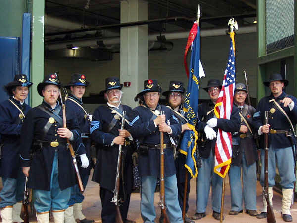 Co. B, 28th Wisconsin color guard at Miller Park in Milwaukee