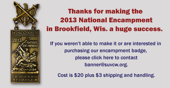 2013 National Encampment badge sales